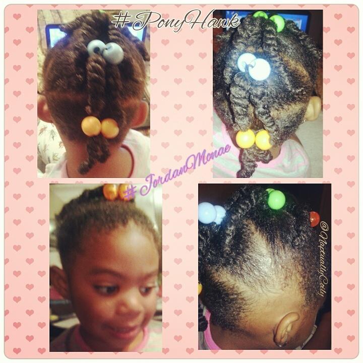 PonyHawk Trending Kids Natural Hair Style